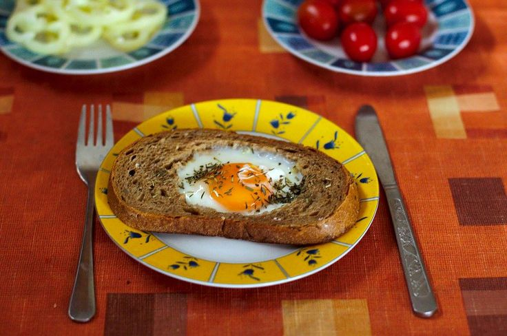 Its just an epic fried egg inside a bread!  ---- - pre heated frying pan - cook slowly with a lid on