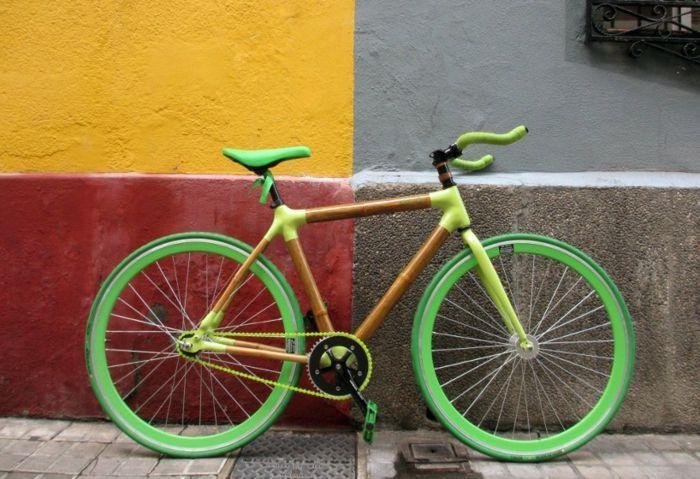 Nachhaltiges Nachhaltigem Stylische Fahrrder Fahrrad Neongrn