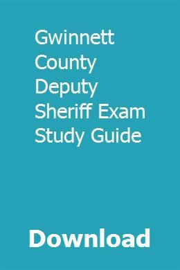 download gwinnett county deputy sheriff exam study guide pdf rh pinterest com Study Guide Template Exam Study Tips