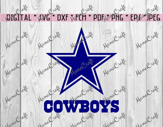 SVG DALLAS COWBOYS star and logo digital vector by MamaCraft4You
