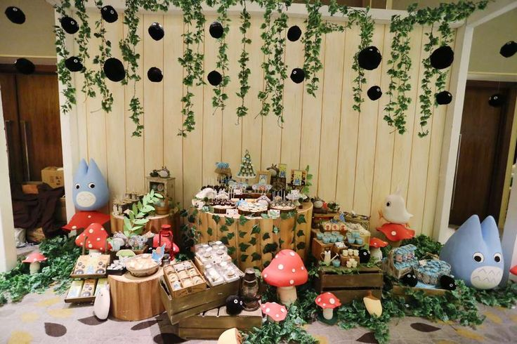 An amazing Totoro birthday party! See more party ideas at CatchMyParty.com!