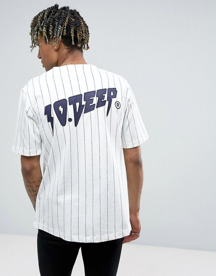 10 DEEP 10.DEEP STRIPED BASEBALL T-SHIRT - WHITE. #10deep # · Camisa Blanca  Para HombresCamisas ...