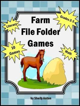 Set of 10 File Folder Games Farm Theme #specialeducation #autism #autistic #filefoldergames #homeschool #teaching #teacher #printablegames #printableactivities #farm #thematicunit #commoncore #preschool #kindergarten #elementary #independentworktask #iheardsaidthebird #farmunit
