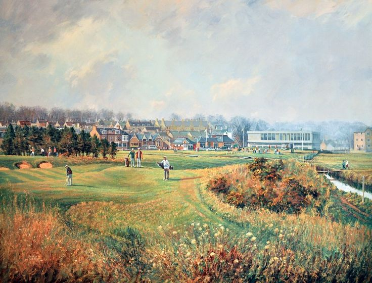 Donald Shearer Carnoustie Championship Course Signed Limited Edition 15x20 | Scottish Contemporary Art