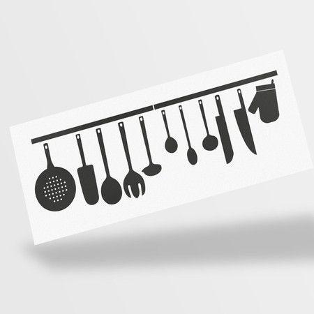 Adesivo Decorativo Cozinha Utensílios Domésticos - Miho Studio Brasil