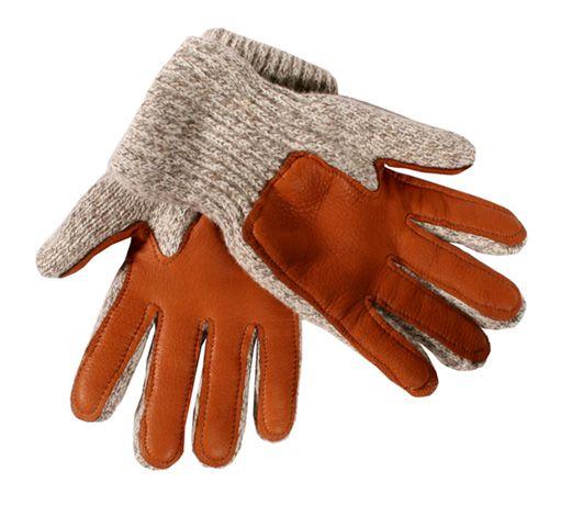 Bemidji Woolen Mills - Gloves - Ragg Wool Glove Deer Palm, Pile Lined
