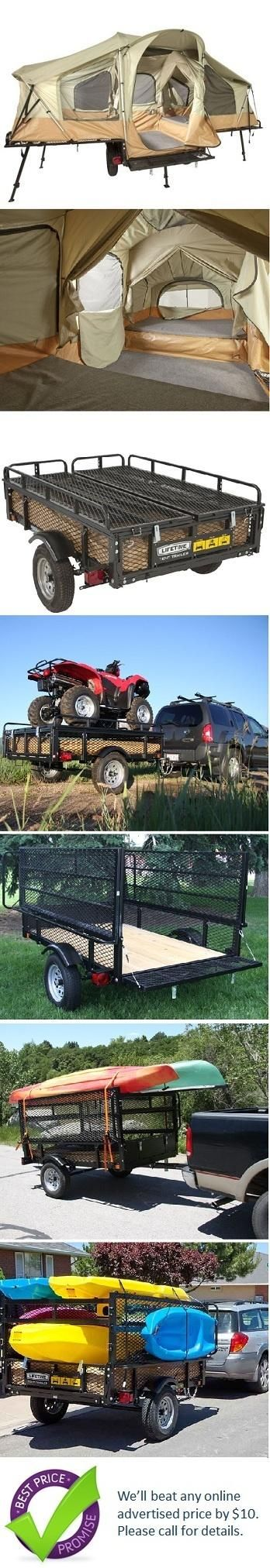Lifetime Tent Trailer. I want one of these! Too bad they're $3000.