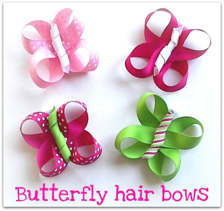 Butterfly Hair Bows   AB said she would like to eat them.