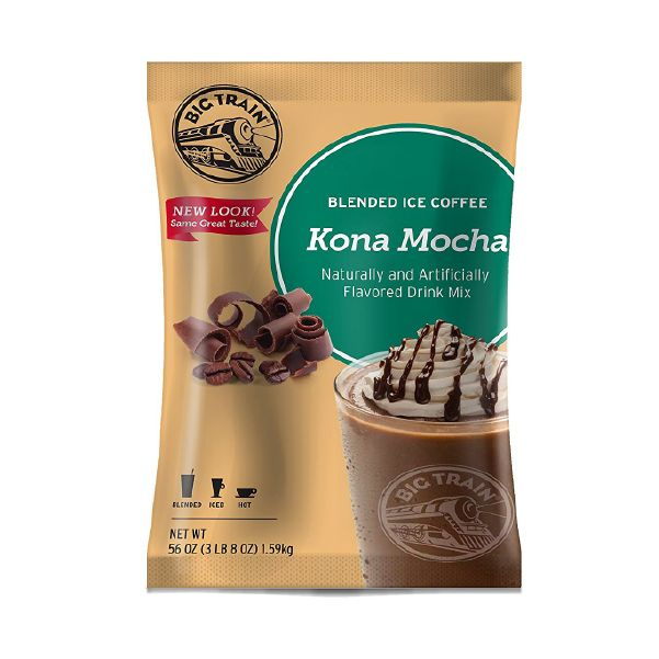 Kona Mocha Iced Coffee Mix Taste Big Island flavor with this Kona Mocha Blended Ice Coffee Mix from Big Train! #coffee #javamomma #directsales