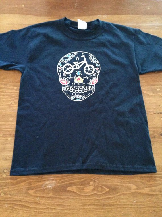 sugar skull shirt day of the dead shirt cinco by DiaDeLosBicycles