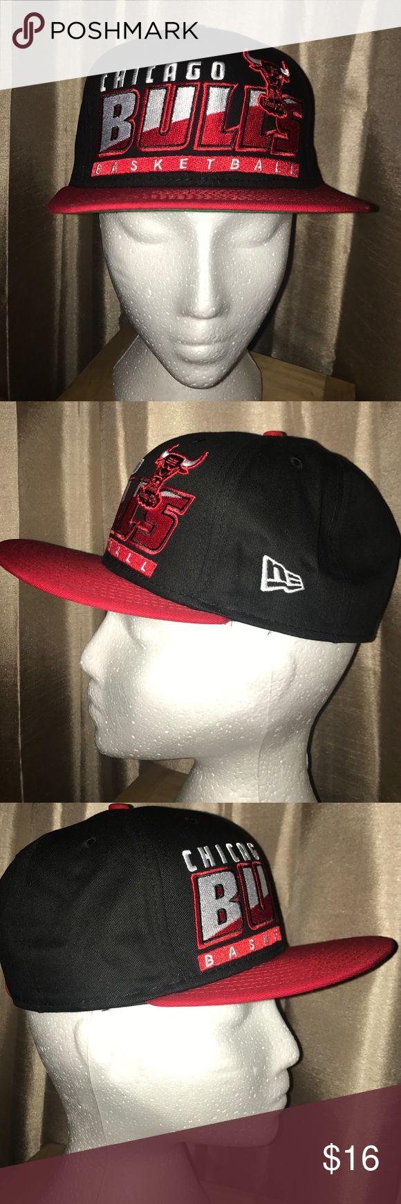NICE Chicago Bulls NBA Basketball 🏀 Snap Back Hat NICE Retro New Era Chicago Bulls NBA Basketball 🏀 Snap Back Hat Hardwood Classics New Era Accessories Hats