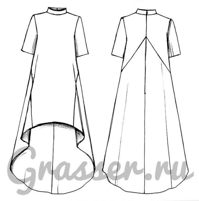 Выкройка платья, модель №277, магазин выкроек grasser.ru