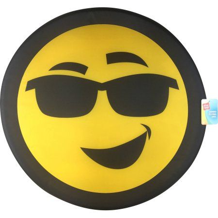 Play Day Jumbo Flying Disc, Smiley Face Sunglasses