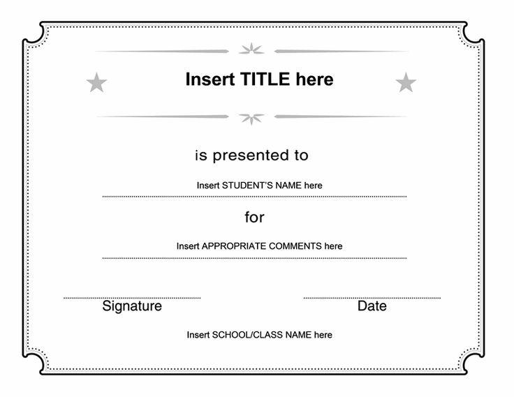 Generic Certificate