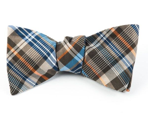 ZENITH PLAID BOW TIES - BROWN | Ties, Bow Ties, and Pocket Squares | The Tie Bar