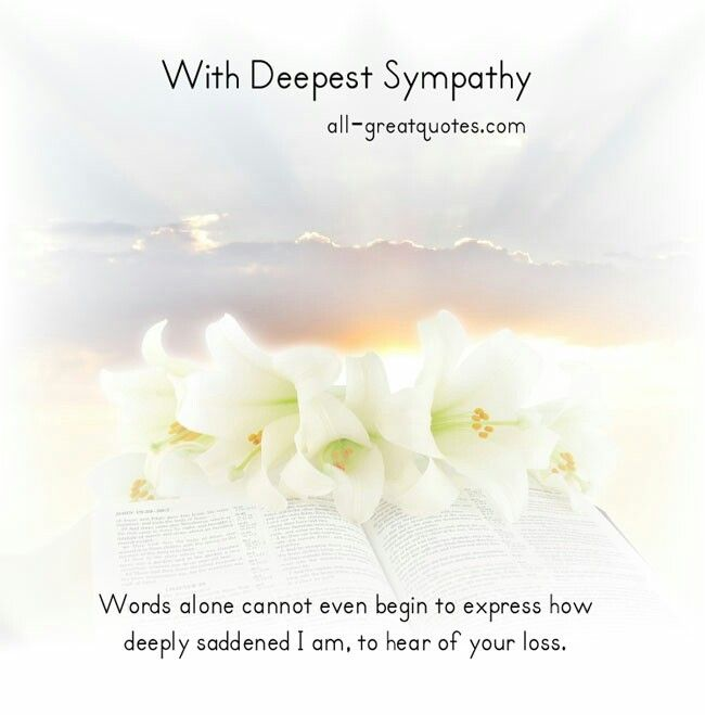 Deepest Sympathy Messages