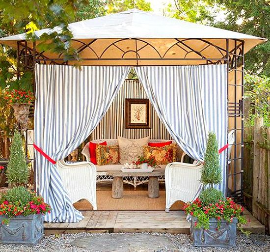 Beachy Backyard Cabana Ideas: http://beachblissliving.com/bring-a-beach-cabana-to-the-backyard-for-the-ultimate-lounging-experience/