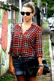 genç kız modası şort ve kareli gömlekler - Google'da Ara