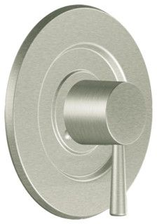 HOUZ** Moen T2701BN Brushed Nickel Valve Trim 1-Handle 1-Function Balancing Cartridge - modern - showers - by PlumbersStock