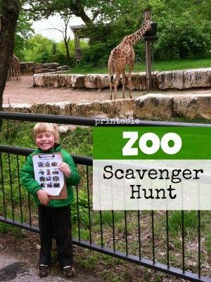 Printable Zoo Scavenger Hunt - I Can Teach My Child!