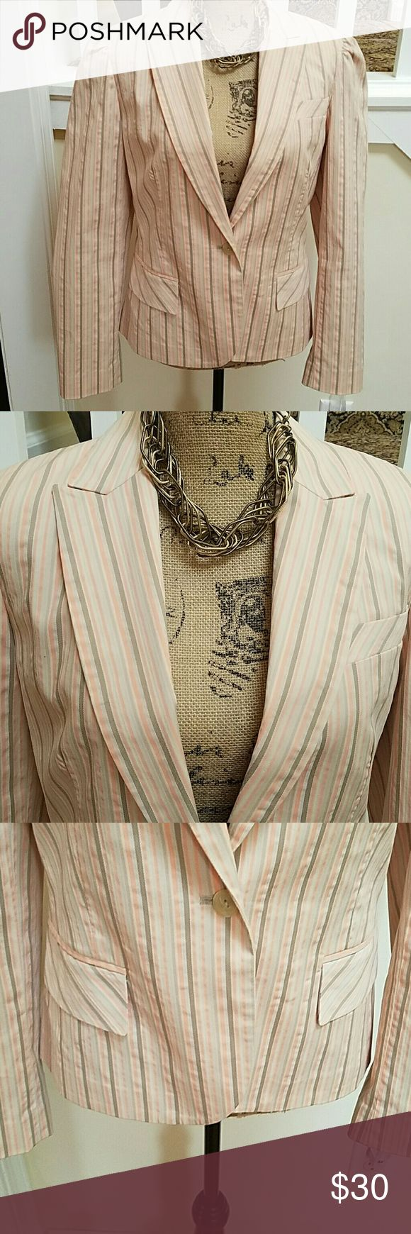 CLASSIC SEERSUCKER BLAZER Nice and cool stripped seersucker blazer. Shell sold in seperate listing. Apostrophe  Jackets & Coats Blazers