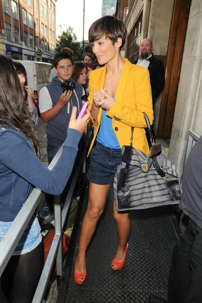 Frankie Sandford  - makeup and outfit, love the hair too