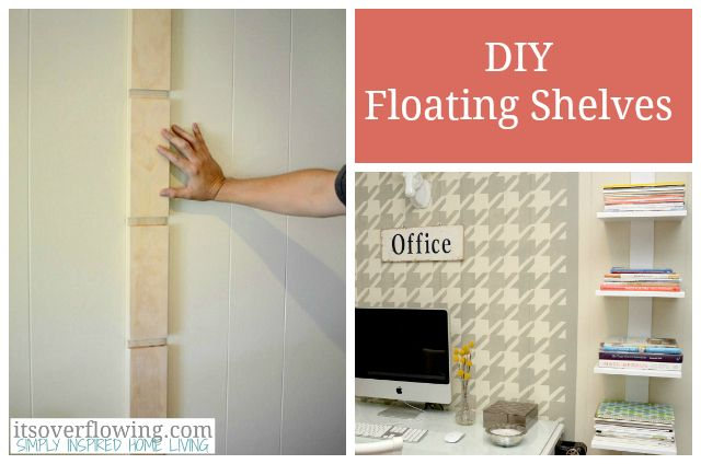 DIY Floating Shelf for Books and Magazines.  @Its_Overflowing #office