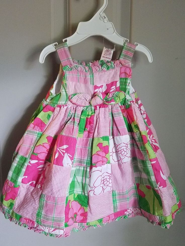New Savannah Baby Girl Sundress Size 6 mos With Sun Hat & Panties Pink Green  | Clothing, Shoes & Accessories, Baby & Toddler Clothing, Girls' Clothing (Newborn-5T) | eBay!