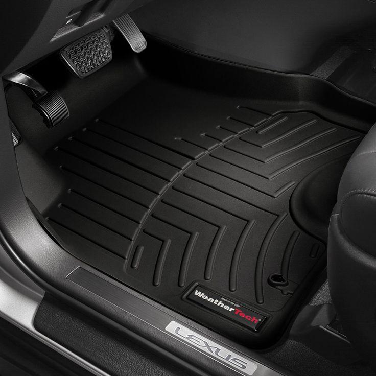 Image may not reflect your exact vehicle! WeatherTech® - DigitalFit™ Molded Floor Mats - 1st Row, Black