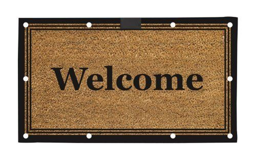 "TRADITIONAL WELCOME LED COIR MAT by House-Impressions. $29.99. 16"" x 28"". Made of durable coir fibers with a water proof rubber backing. Will stay lit for approximately 60 seconds. Mat uses 3 AAA batteries (not included). 10 Embedded super bright LED lights. Never let your guests stumble around in the dark again! This unexpected LED lighting system utilizes 10 embedded super bright lights that glow when the mat is stepped on. Using a timer, the lights automatically shut of..."