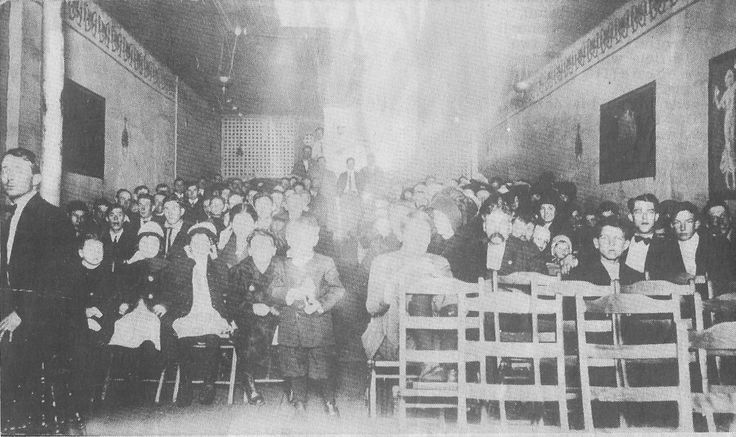 Inside the Star Theatre on Main St. hill (old News Virginian bldg. Built as a Presbyterian church about 1875. Served the congregation until the new Presbyterian Church was built at the corner of Wayne Ave. & 11th St., circa 1912.