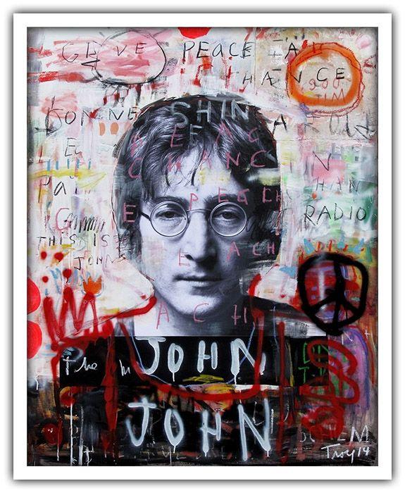 Troy Henriksen - John - Acrylique et mixte sur toile - 146 x 114 cm - 2014 - Galerie W - Galerie d'Art contemporain à Paris