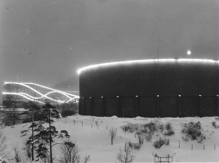 1950 Linnanmäki talvella