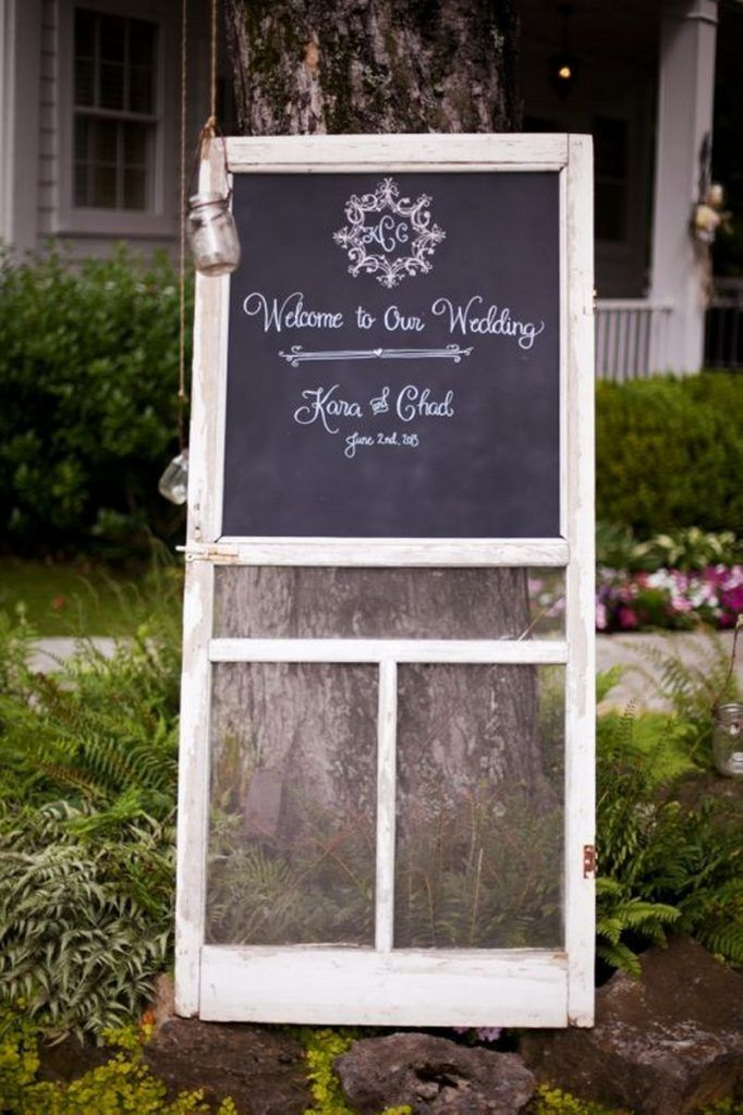 Upcycled Screen Door - ideas for leftover screen doors. Like the idea of chalkboard panel for parties, etc.