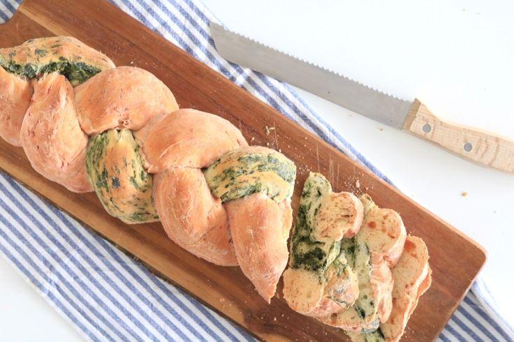 Vlechtbrood met groenten