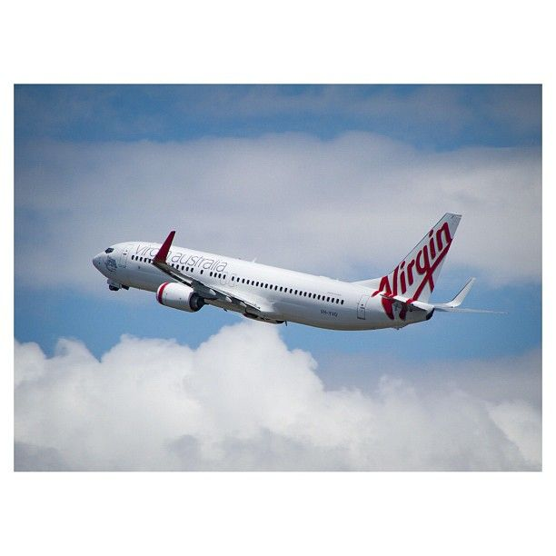 Wheels up for this Virgin Australia 737-800 as it heads out of Gold Coast Airport