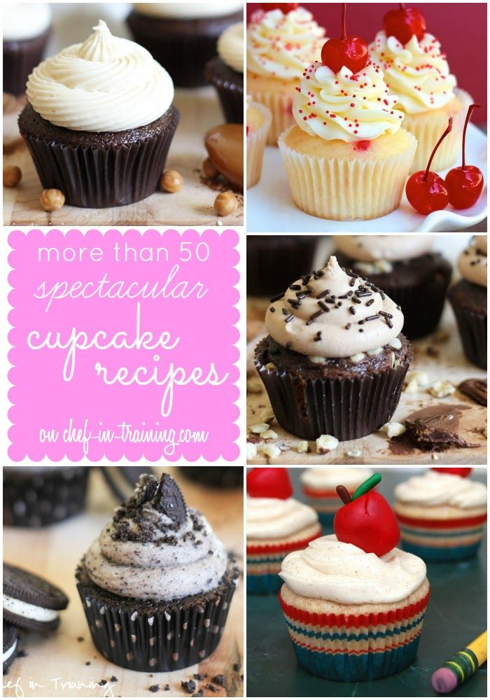 OVER 50 Unique and Delicious CUPCAKE recipes on chef-in-training.com ...Every cupcake you could imagine rounded up into one INCREDIBLE list!