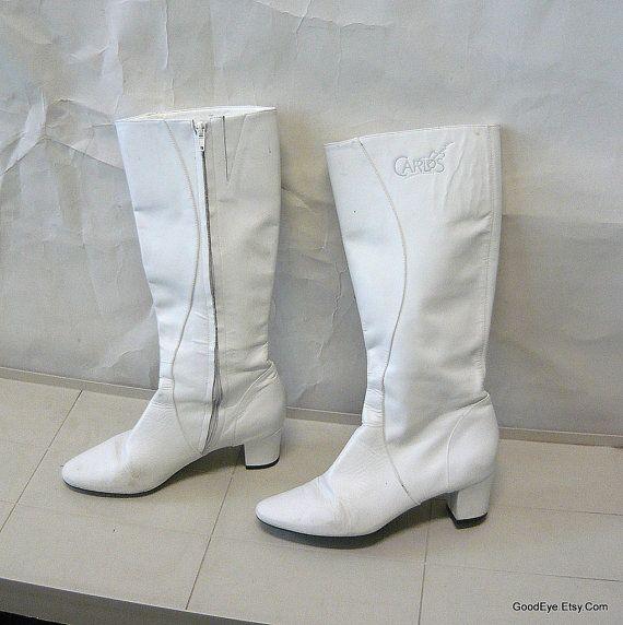 Vintage White Leather Gogo