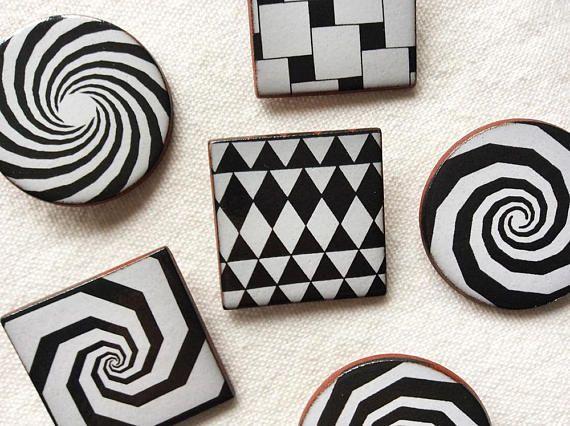 Optical Art Designs : 68 best ceramic brooches images on pinterest handmade