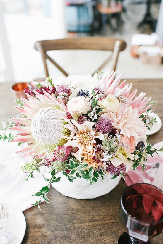 King protea centerpiece