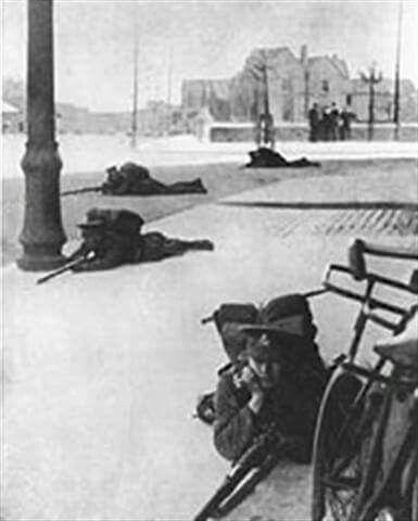 The battle of Mount Street, Dublin, Ireland 1916.