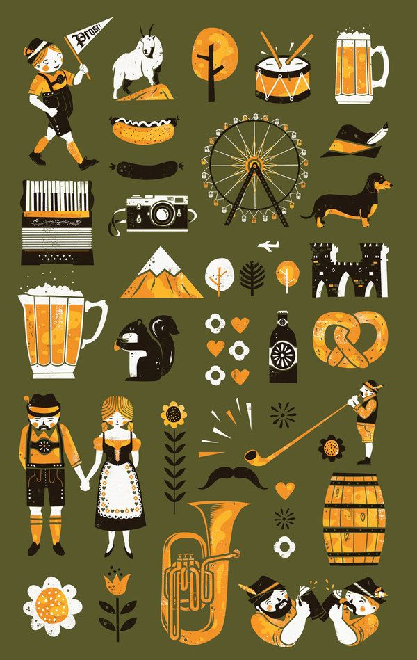 Oktoberfest Illustration by Paul Vizzari, via Behance