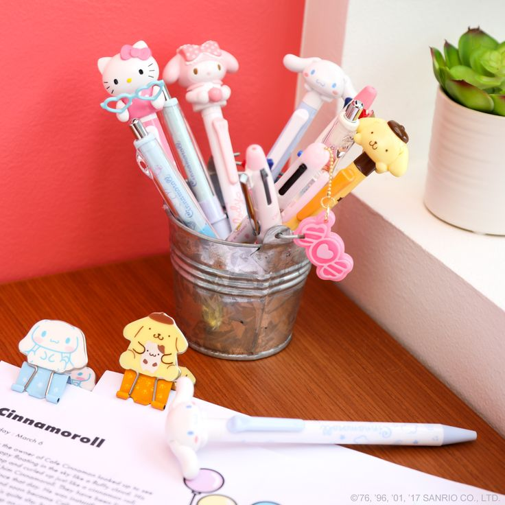 These adorable desktop supplies are sure to brighten any office. The perfect accessories to keep you organized and put a smile on your face!