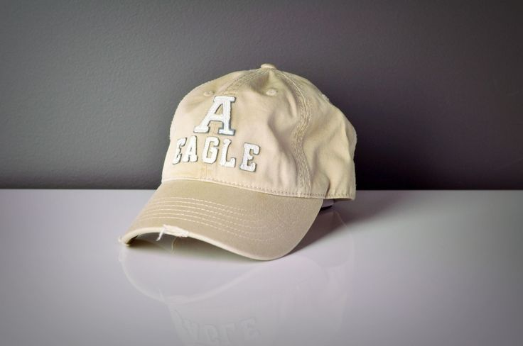 Light Stone Wash Khaki Baseball Cap with Distressed Peak