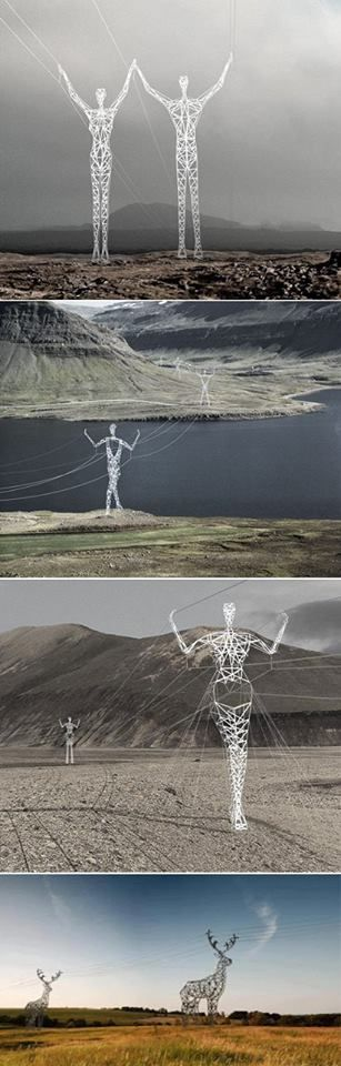 Amazing Power Lines in Iceland