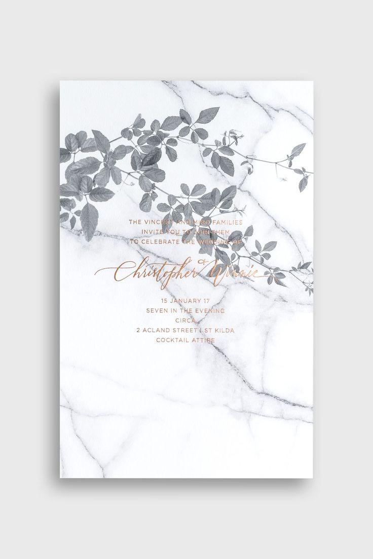 14 modern botanical wedding invitations you will love