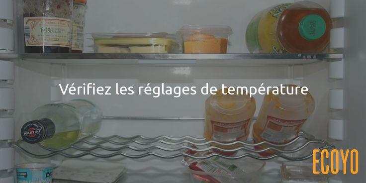 Astuce #ECOYO du jour: Vérifiez les réglages de température  Maintenez la température de votre réfrigérateur entre 4 et 6°C et celle de votre congélateur à -18°C. Des températures inférieures sont inutiles et coûteuses. Au besoin, suivez la température de votre frigo avec un thermomètre adapté