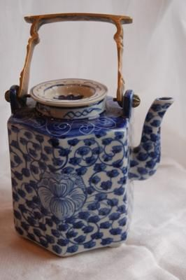 I have a wonderful collection of antique and vintage tea pots.