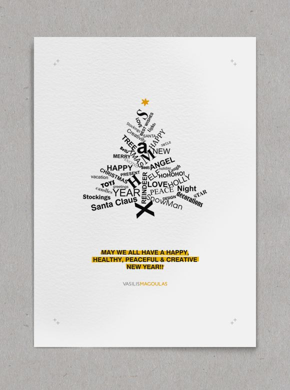 Christmas & New Year Greeting Cards on Behance