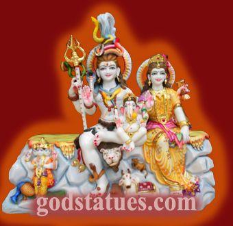 Shiva Parvati with Kartikay Shiv Parivar. #hindu #god #statue #handicraft